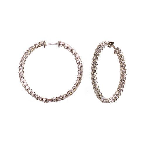 "telio! by Doris Panos ""Sophia"" Silver-Tone Inside Out Hoop Earrings"