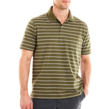 jcpenney.com | St. John's Bay® Bar-Striped Pocket Polo