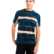Duo Stripe Burnout Tee