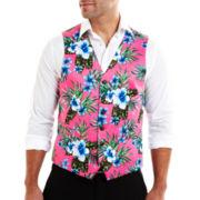 JF J. Ferrar® Pink Hawaiian Vest