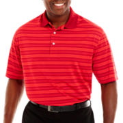 PGA TOUR® Pro Series Airflux Striped Polo Shirt-Big & Tall