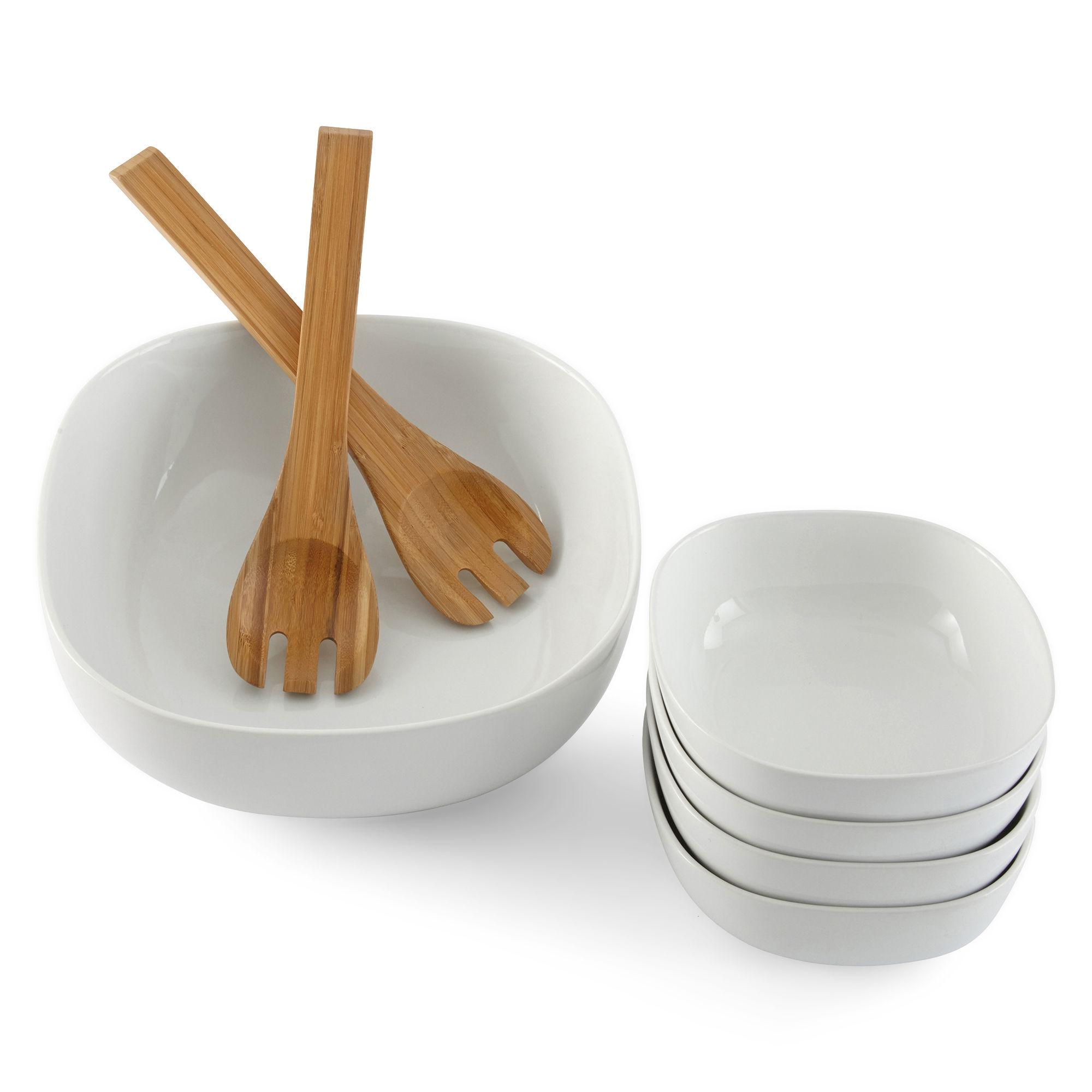 JCPenney Home™ 7-pc. Porcelain Salad Serving Set Salad Greens Seeds, Salad Greens Seed, Salad Seeds, Salad Greens, Garden Seeds, Vegetable Seeds
