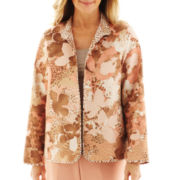 Alfred Dunner® Animal Attraction Quilted Animal Floral Jacket