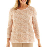 Alfred Dunner® Animal Attraction Space-Dyed Sweater