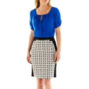 Worthington® Tie-Neck Blouse or Framed Pencil Skirt