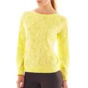 Xersion™ Burnout Back-Zip Sweatshirt - Petite