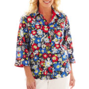 Alfred Dunner® Secret Garden Floral Print Shirt - Plus