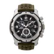 Timex® Expedition Mens Silver-Tone Chronograph Watch