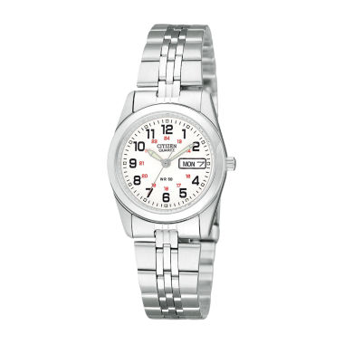 jcpenney.com | Citizen® Womens White Dial Stainless Steel Bracelet Watch EQ0510-58A