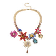 Bleu™ Multi Flower Bib Necklace