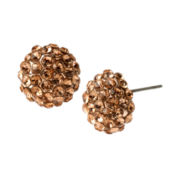 Bleu™ Rose Gold-Tone Fireball Earrings