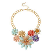 Mixit™ Multi Flower Statement Necklace