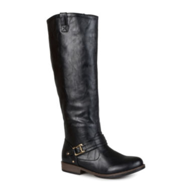 jcpenney.com | Journee Collection Kai Ankle-Strap Pull-On Womens Riding Boots