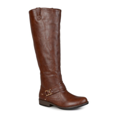 jcpenney.com | Journee Collection Kai Ankle-Strap Riding Boots - Wide Calf