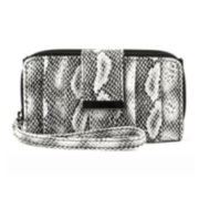 Mundi® Benny Snake Print Pleated Wristlet