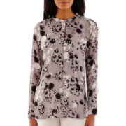 Liz Claiborne® Long-Sleeve Tunic Blouse - Tall