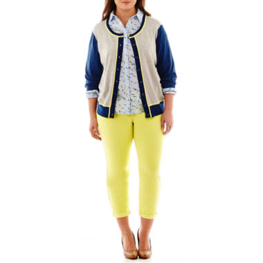 jcpenney.com | Stylus™ Crewneck Cardigan, Relaxed-Fit Shirt or Slim Ankle Jeans - Plus
