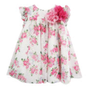 Marmellata Ruffle-Sleeve Floral-Print Dress – Girls 3m-24m