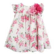 Marmellata Ruffle-Sleeve Floral-Print Dress – Girls 3m-24m