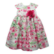 Marmellata Cap-Sleeve Floral Burnout Dress - Girls 3m-24m