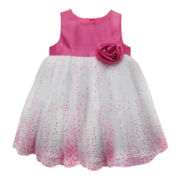 Marmellata Sleeveless Lacquer Dot Dress – Girls 3m-24m