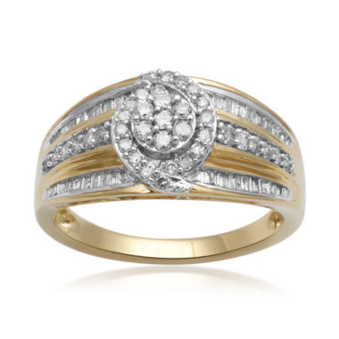 jcpenney.com | diamond blossom 1/2 CT. T.W. Diamond 10K Yellow Gold Cluster Ring