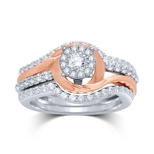 1 CT. T.W. Diamond 14K Two-Tone Gold Bridal Ring Set