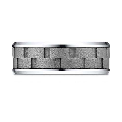 Mens Cobalt and Chain Link Band