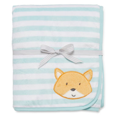 jcpenney.com | Carter's® Striped Fox Sherpa Blanket