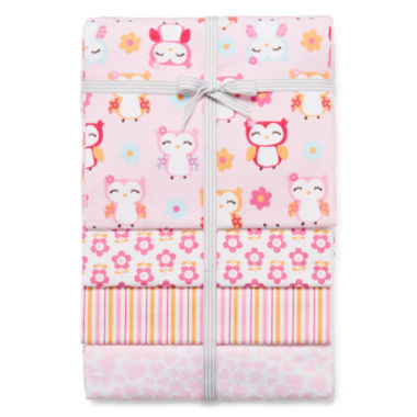 jcpenney.com | Carter's® 4-pk. Owl Receiving Blankets