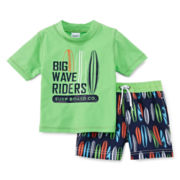 Carter's® Big Wave Rider Rashguard Swim Set - Boys 2t-4t