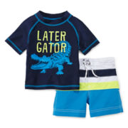 Carter's® Later Gator Rash Guard Set – Boys 3m-24m