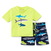 Carter's® Shark Rash Guard Set – Boys 3m-24m