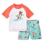Carter's® Surfing Dog Rash Guard Set - Boys 3m-24m
