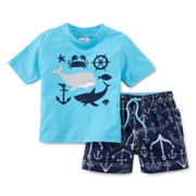 Carter's® Nautical Rash Guard Set – Boys 3m-24m