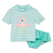 Carter's® Flamingo Rash Guard Set – Girls 3m-24m