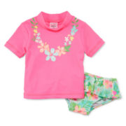 Carter's® Floral Rash Guard Set - Girls 3m-24m