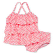 Carter's® 2-pc. Anchor-Print Swim Suit Set – Girls 3m-24m