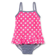 Carter's® 1-pc. Polka Dot Swim Suit - Girls 3m-24m