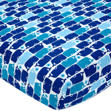 jcpenney.com | Happy Chic Baby by Jonathan Adler Party Whale Fitted Crib Sheet
