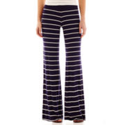 by&by Striped Knit Wide-Leg Pants