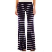 by&by Striped Knit Wide-Leg Pants