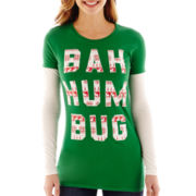 Long-Sleeve Layered Bah Humbug Tee