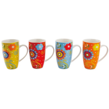 jcpenney.com | Maxwell and Williams™ Flower Power Set of 4 Mugs