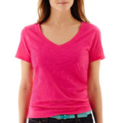 Stylus™ Short-Sleeve V-Neck Slub Tee - Tall