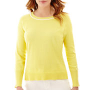 Liz Claiborne® Long-Sleeve High-Low Sweater
