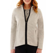 Liz Claiborne® Long-Sleeve Zip-Front Jacket