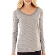 Liz Claiborne® Long-Sleeve Striped Tee