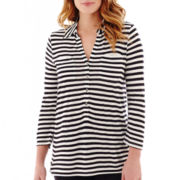 Liz Claiborne® 3/4-Sleeve Tunic Top - Tall