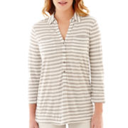 Liz Claiborne® 3/4-Sleeve Knit Tunic Top
